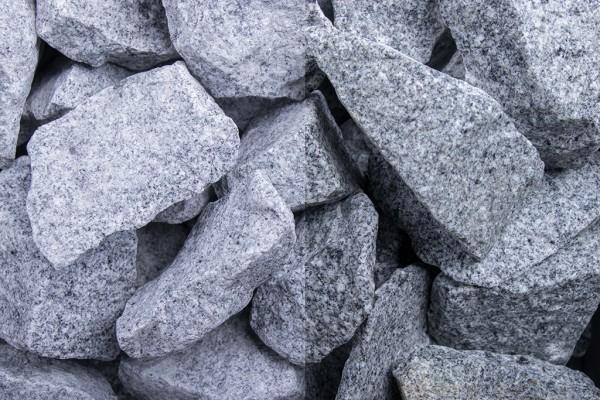 Steinschlag   Granit Grau   Körnung 32-56 mm