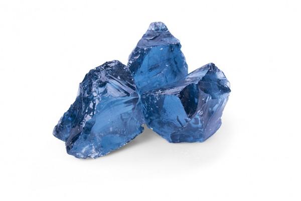 Glasgabionenstein | Glas Royal Blue | Körnung 50-120 mm