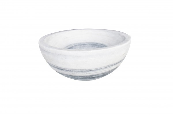 "Fruit bowl ""Obstschale"" 30cm, white/grey marble"