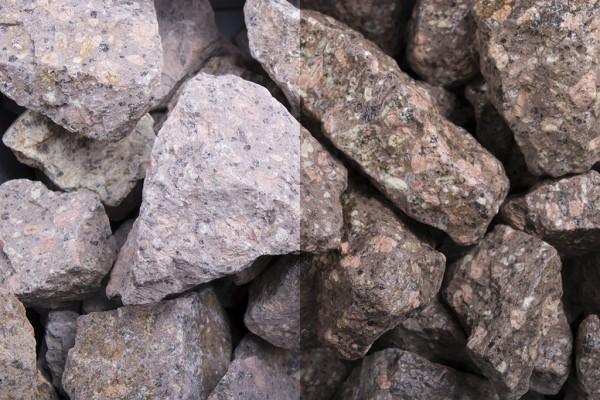 Steinschlag   Roter Porphyr   Körnung 32-56 mm