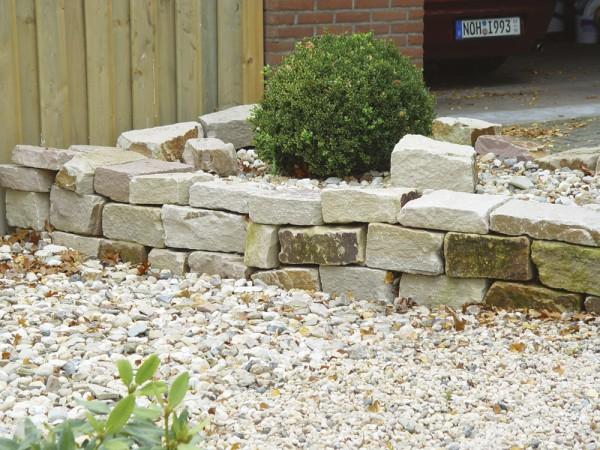 Mauerstein | Knacker maschinengespalten | Maße 10-20 x 15-20 x 25-50 cm