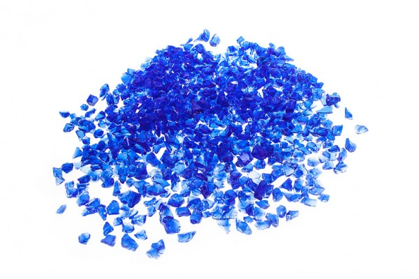 Glassplitt Blue Violet | Körnung 5-10 mm